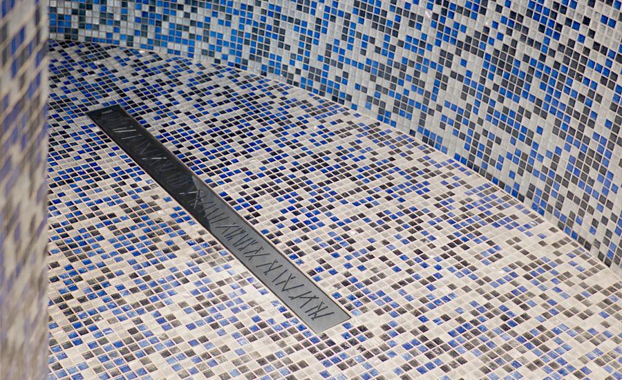 Canaletta doccia valsir linea valsir - Piatto doccia mosaico ...